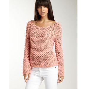 Aiko Amelie Popcorn Stitch Cotton Sweater L